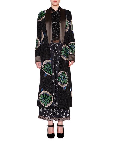 Etro Embellished Reversible Robe-Coat, Black/Multi
