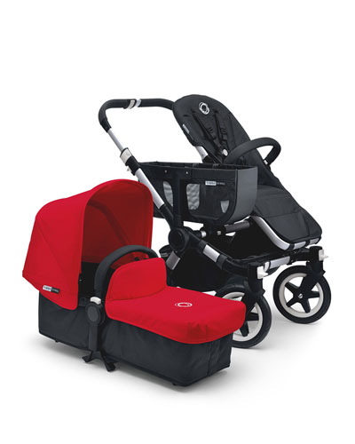 Donkey Stroller Base, Bassinet Base, Duo Extension Kit, Extended Sun Canopy & Tailored Fabric Set, Aluminum