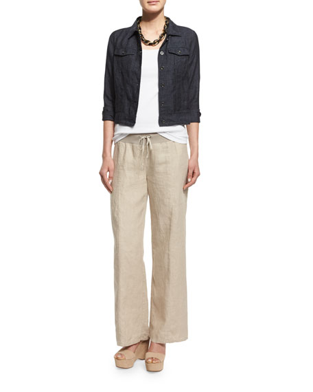 Eileen Fisher Organic Linen Jean Jacket, Denim, Plus