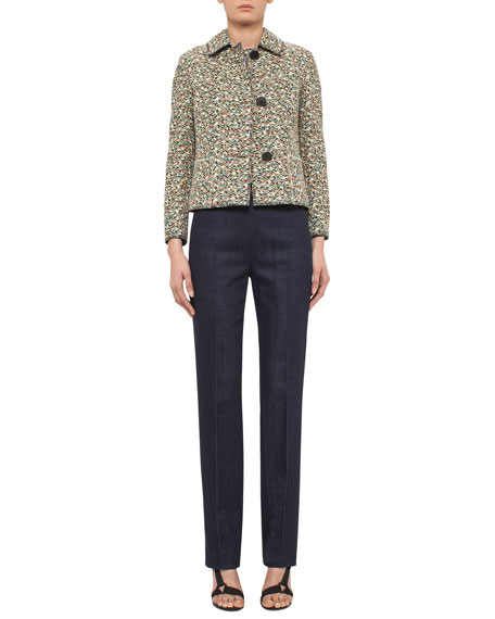Akris punto Static Tweed Three-Button Jacket, Multi