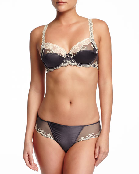 Lise Charmel Glamour Soie Mesh-Lace Full Cup Bra,