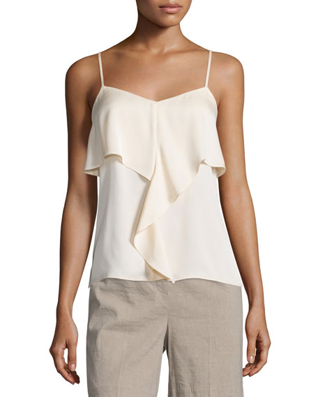 TheoryMajken Modern Georgette Sleeveless Top
