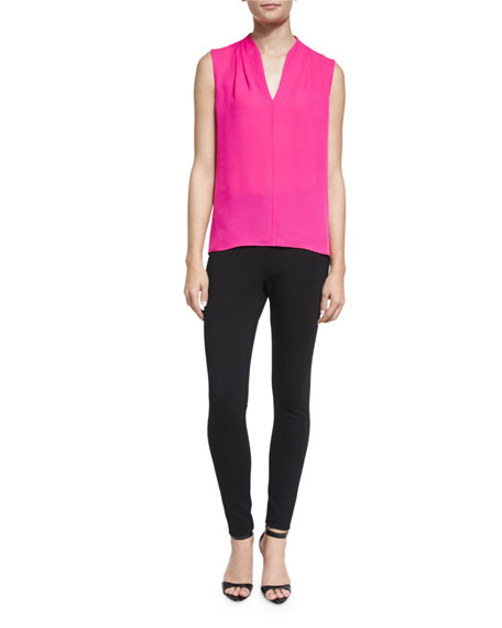 Elie Tahari Judith Sleeveless Silk Blouse, Chelsea Girl