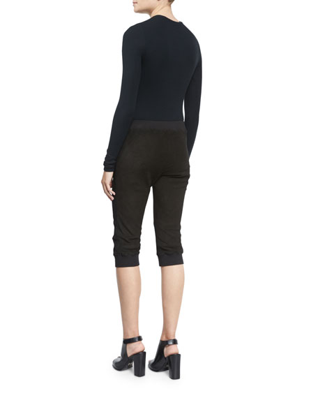 Long-Sleeve Crewneck Bodysuit