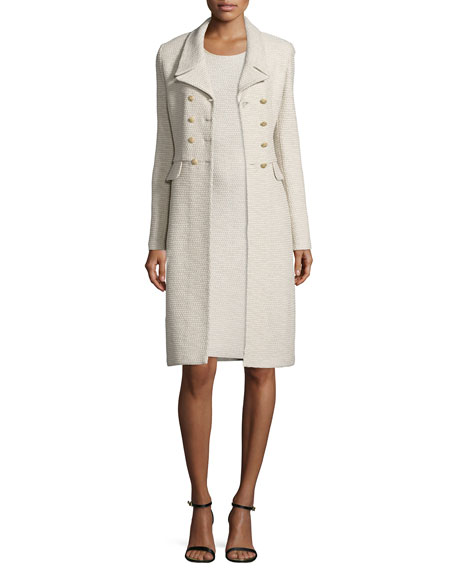 St. John Collection Via Vittorio Knit Double-Breasted Coat,