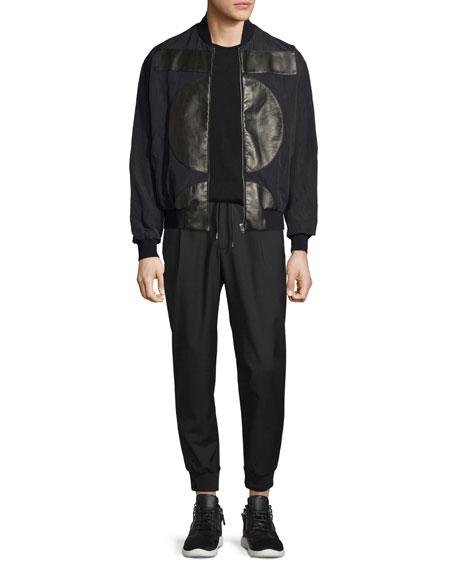 McQ Alexander McQueenMA01 Leather-Patch Bomber Jacket