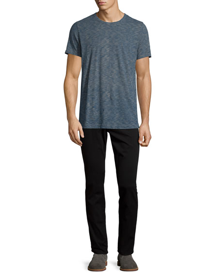Vince Vintage Melange Slub Crewneck T-Shirt, Prussian Blue