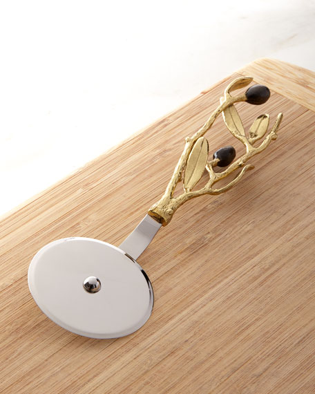 Olive Branch Gold Pizza Cutter