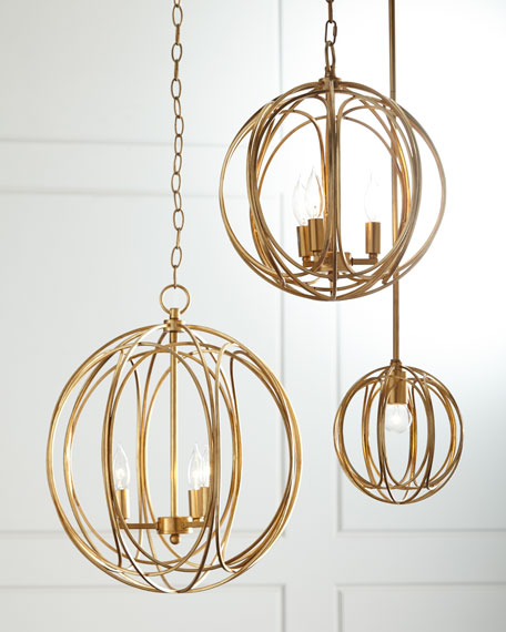 Ofelia medium 3 light pendant