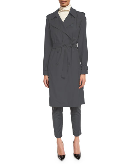 Theory Laurelwood B. Continuous Trench Coat, Dark Slate