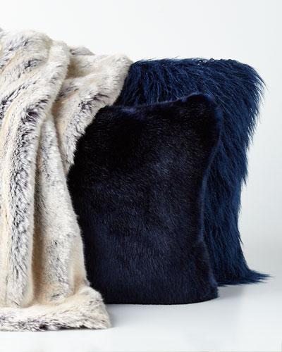 Faux-Fur Pillows & Throw