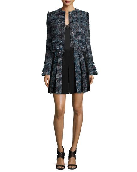 Diane von Furstenberg Margarit Lace-Trim Camisole Top, Black
