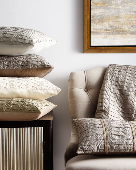 King Pleat-Textured Coverlet