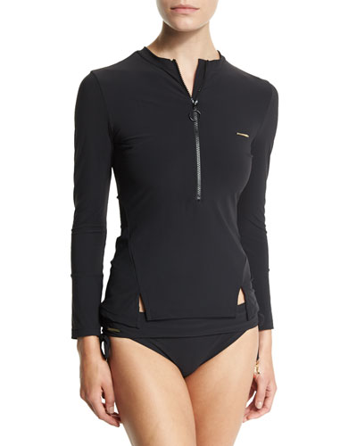 Timeless Basics Rashguard & Timeless Basics Fold-Over Swim Bottom