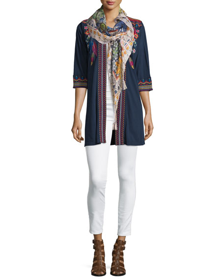 JWLA for Johnny Was Eeren Embroidered Duster Cardigan,