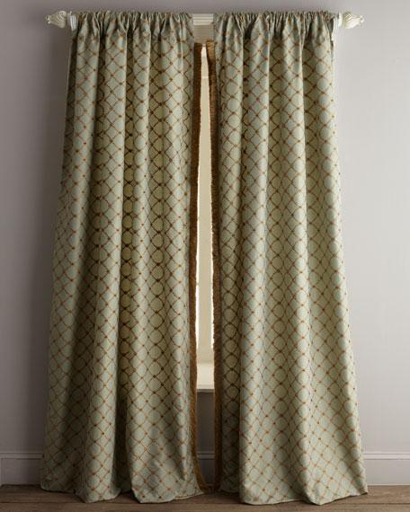 """Each 96""""L Petit Trianon Trellis Curtain"""