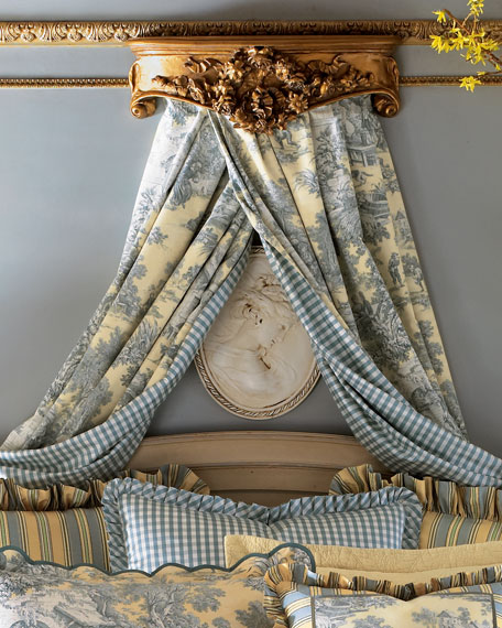 """Two 50""""W x 108""""L Lutece Cypress Toile Window Curtains"""