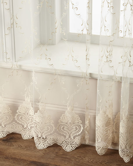 "60""W x 96""L Cameo Lace Curtain"