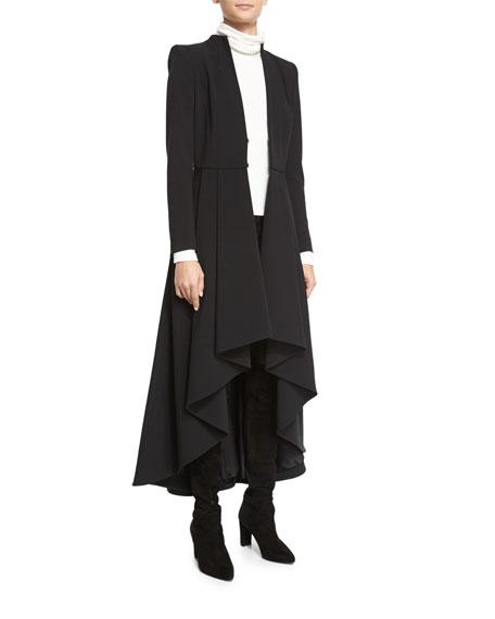 Alice + Olivia Alcina High-Low Pleated Dress Coat