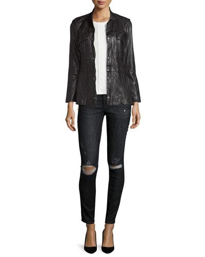 Jacket, Jeans & Tee