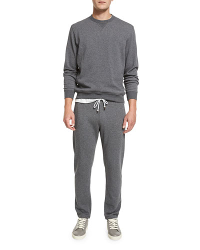 Cotton-Blend Jersey Crewneck Sweatshirt & Cotton-Blend Drawstring Sweatpants