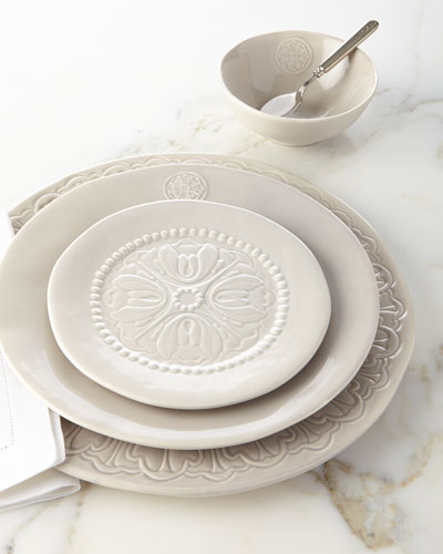 12-Piece Medallion Dinnerware Service & Charger Plates