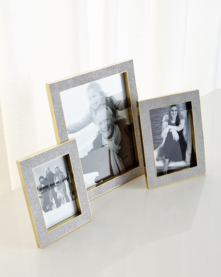 "Classic Dove Faux-Shagreen 5"" x 7"" Frame"