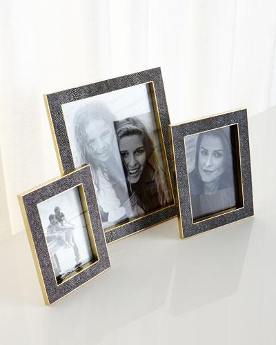 Classic Chocolate Shagreen Frames