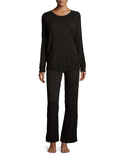 Holiday Highlight Jersey Lounge Pants & Long-Sleeve Lounge Top
