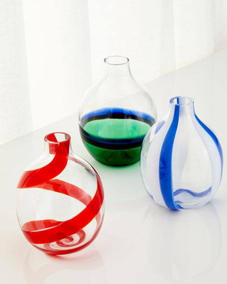 Single Flower Blue/White Vase