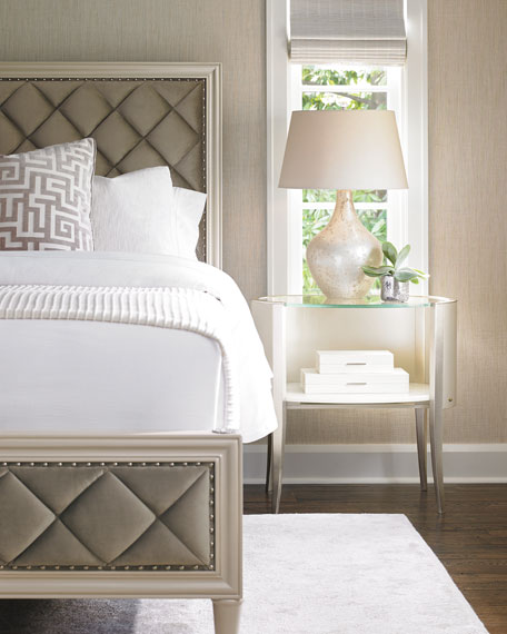 Inspirational Millet Diamond Tufted King Bed
