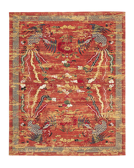 """Imperial Persimmon Rug, 5'6"""" x 8'"""