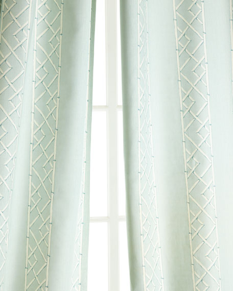 "Two 96""L Lattice Curtains"