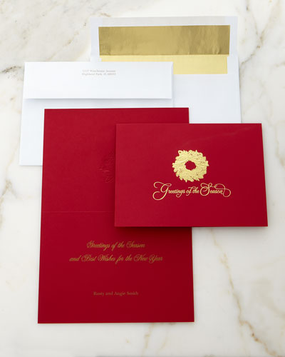 Stationery gifts address labels personalized cards at for Neiman marcus christmas cards