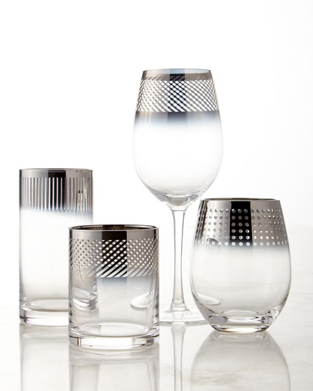 Cheers Metallic Stemless Wine Glasses, 4-Piece Set
