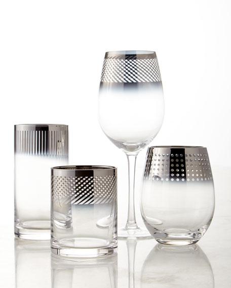 Cheers Metallic Stemless Wine Glasses, 4-Piece Set