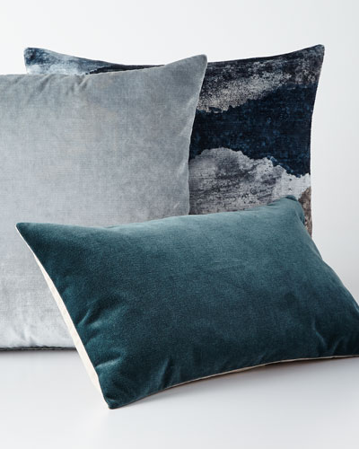 Eastern Accents Venice Charcoal Knife Edge Pillow Mist Bleu