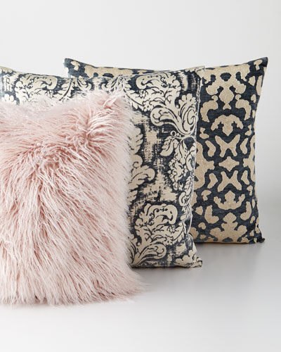 Faux-Fur & Patterned Decorative Pillows