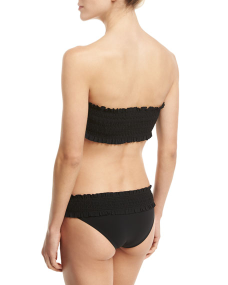 Costa Bandeau Swim Top, Black