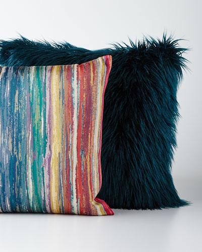 Striped & Faux-Fur Pillows