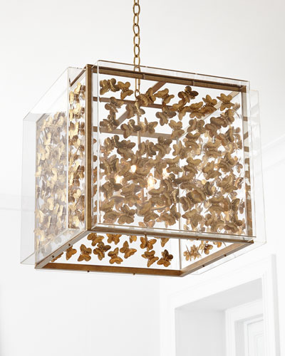 Butterfly 4-Light Small Chandelier & Pendant