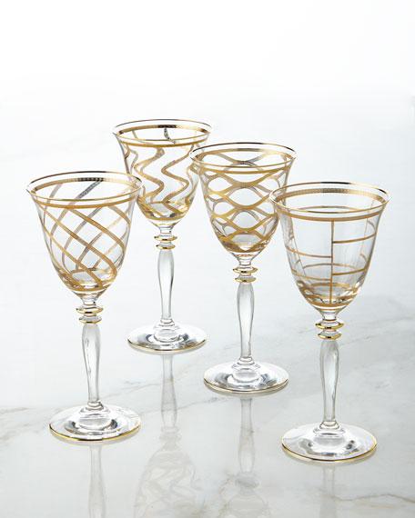 Elegant Grid Wine Glass