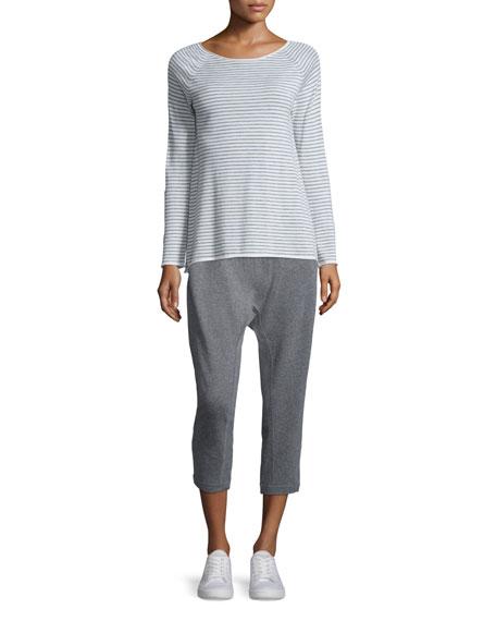 Cashmere Striped Wool Tunic