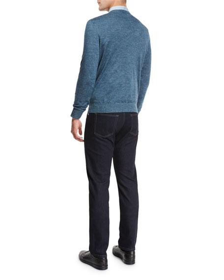 Flannel Long-Sleeve Sport Shirt, Green