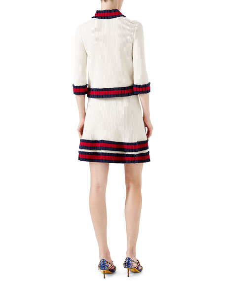 Knit Wool Cardigan, Ivory Sale