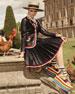 Pleated Leather Skirt, Black