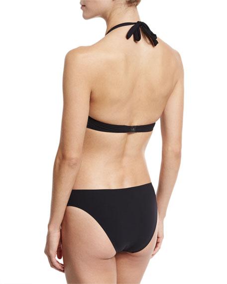 Ajourage Couture Halter Swim Top, Black