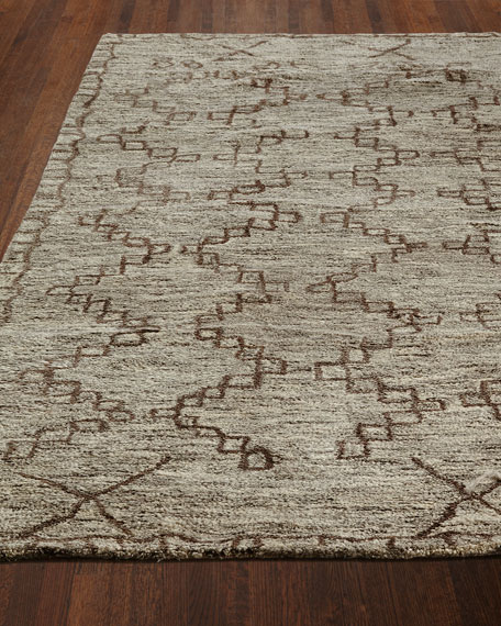 Chain Locked Hand Tufted Rug, 5' x 8'
