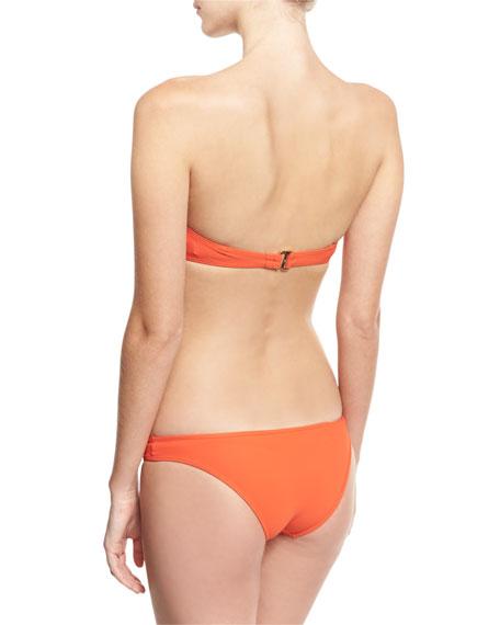 Bralette Bandeau Bikini Swim Top, Red
