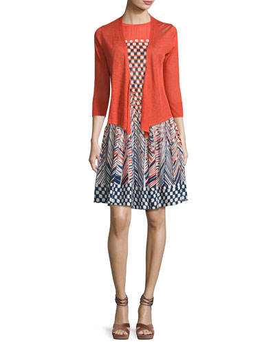 4-Way 3/4-Sleeve Cardigan, Plus Size  and Matching Items